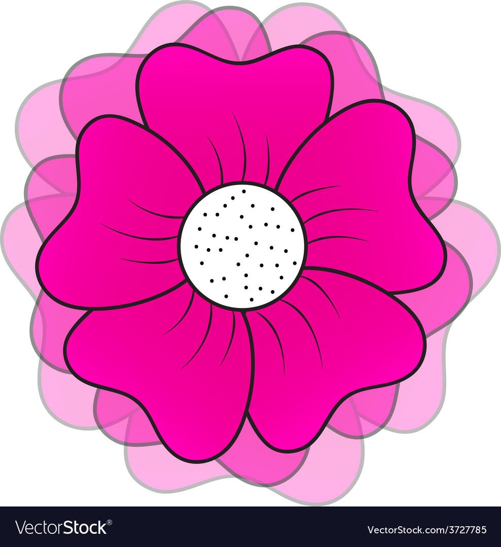 Pink flower vector | Price: 1 Credit (USD $1)