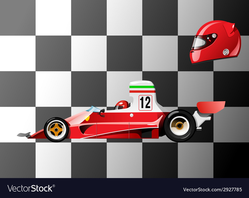 Racing car vector | Price: 3 Credit (USD $3)