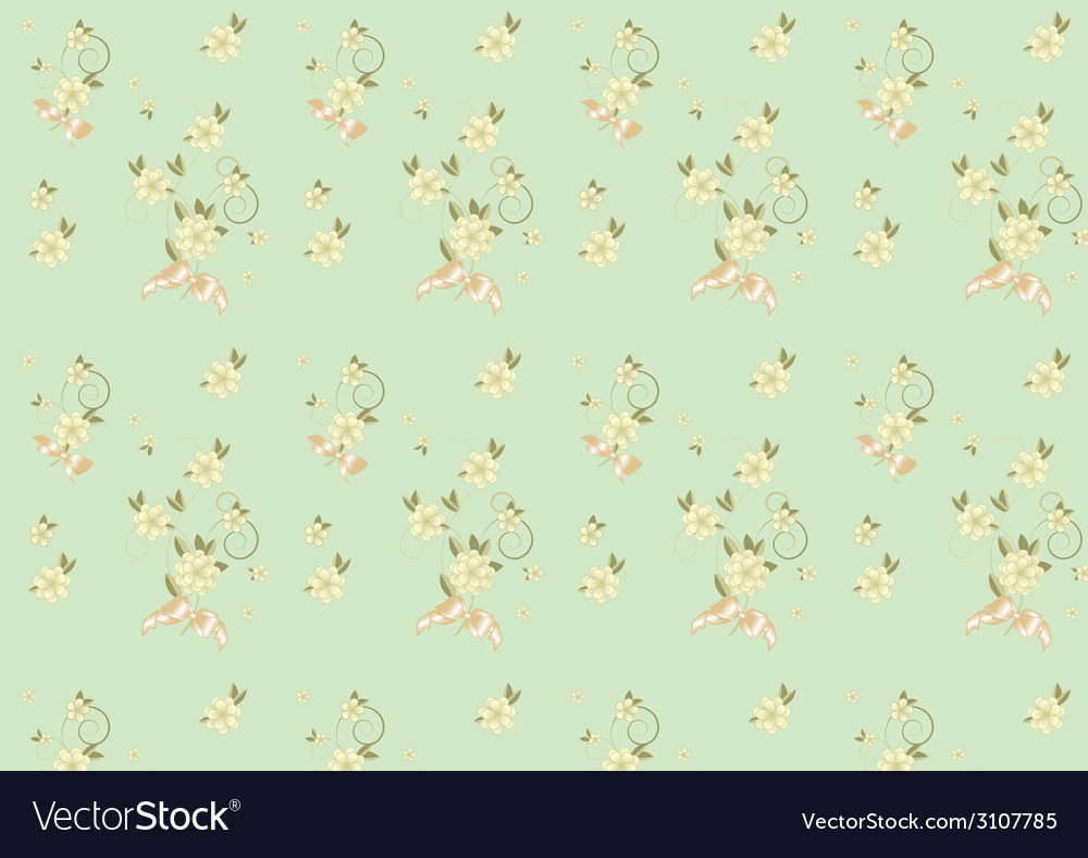 Seamless background with flowers and bows vector   Price: 1 Credit (USD $1)