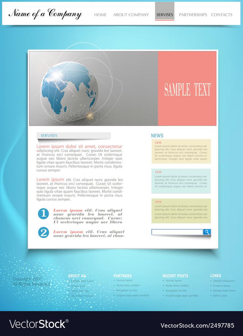 Template business website vector | Price: 1 Credit (USD $1)