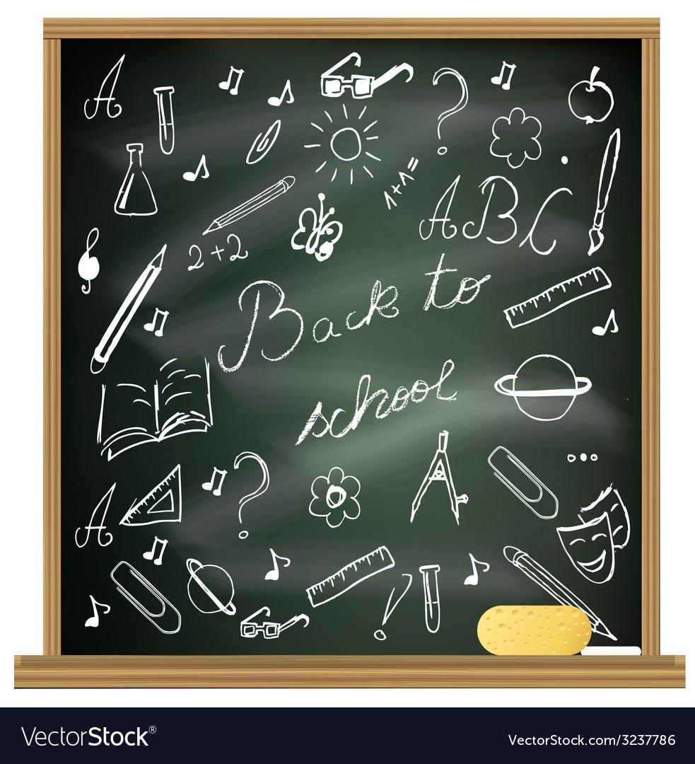 Back to school blackboard vector | Price: 1 Credit (USD $1)