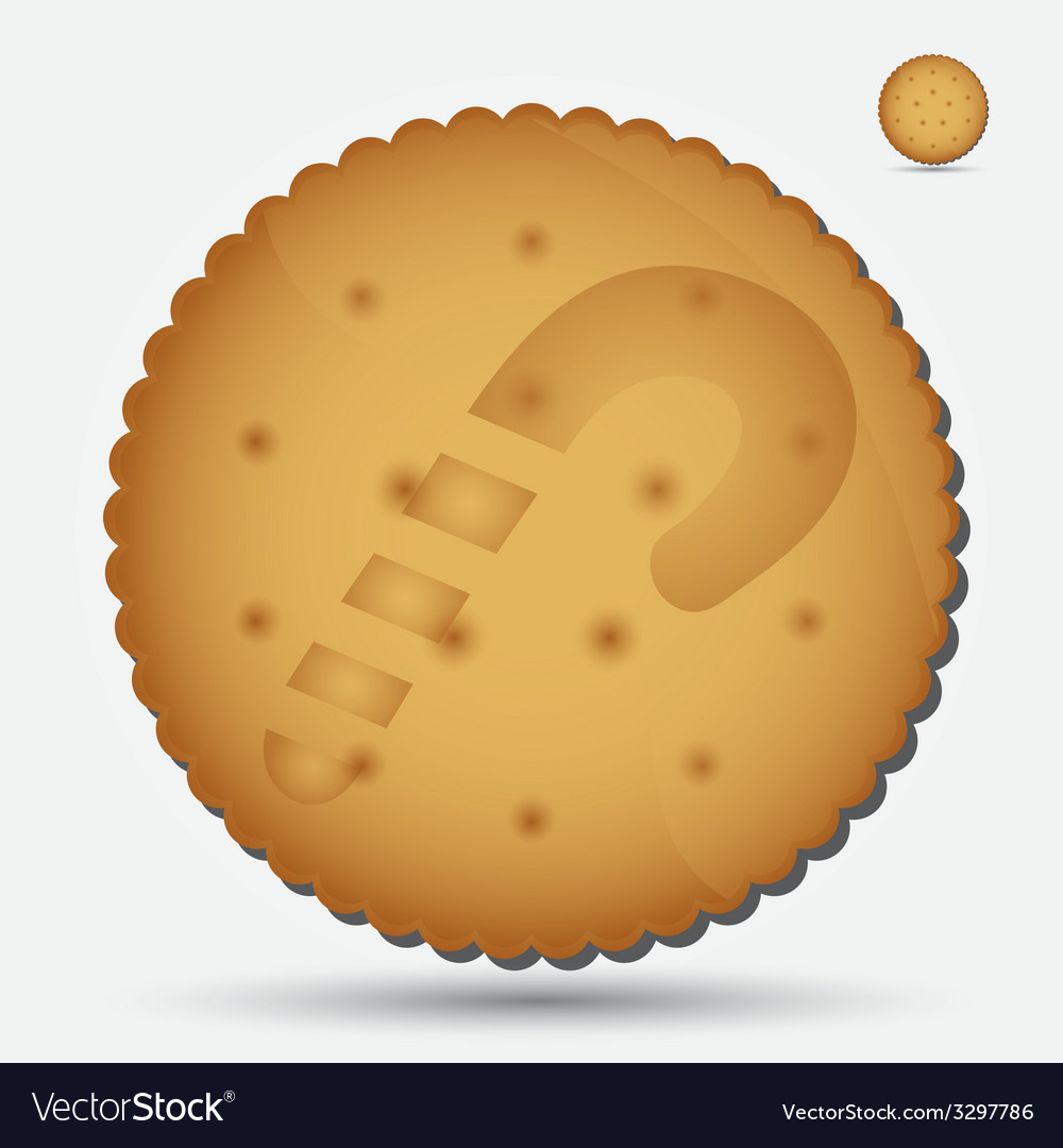 Christmas brown biscuit with lollipop symbol eps10 vector | Price: 1 Credit (USD $1)