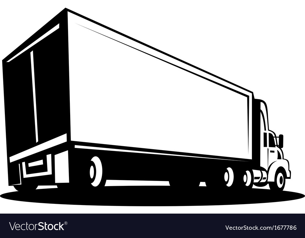 Container truck and trailer vector | Price: 1 Credit (USD $1)