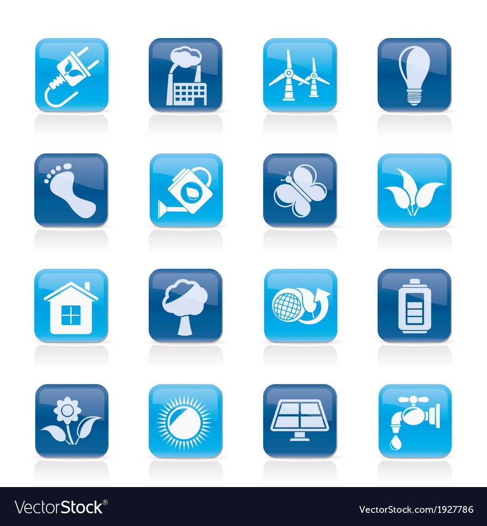 Ecology and environment icons vector   Price: 1 Credit (USD $1)