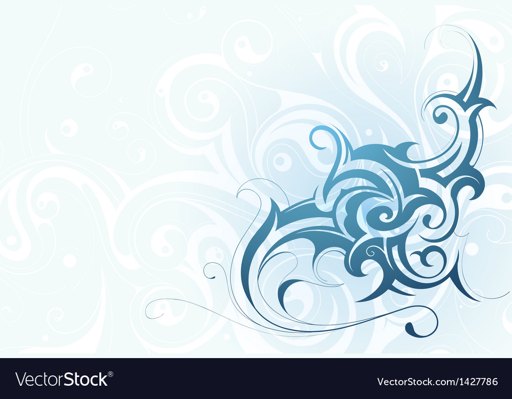 Elegant water splash vector | Price: 1 Credit (USD $1)