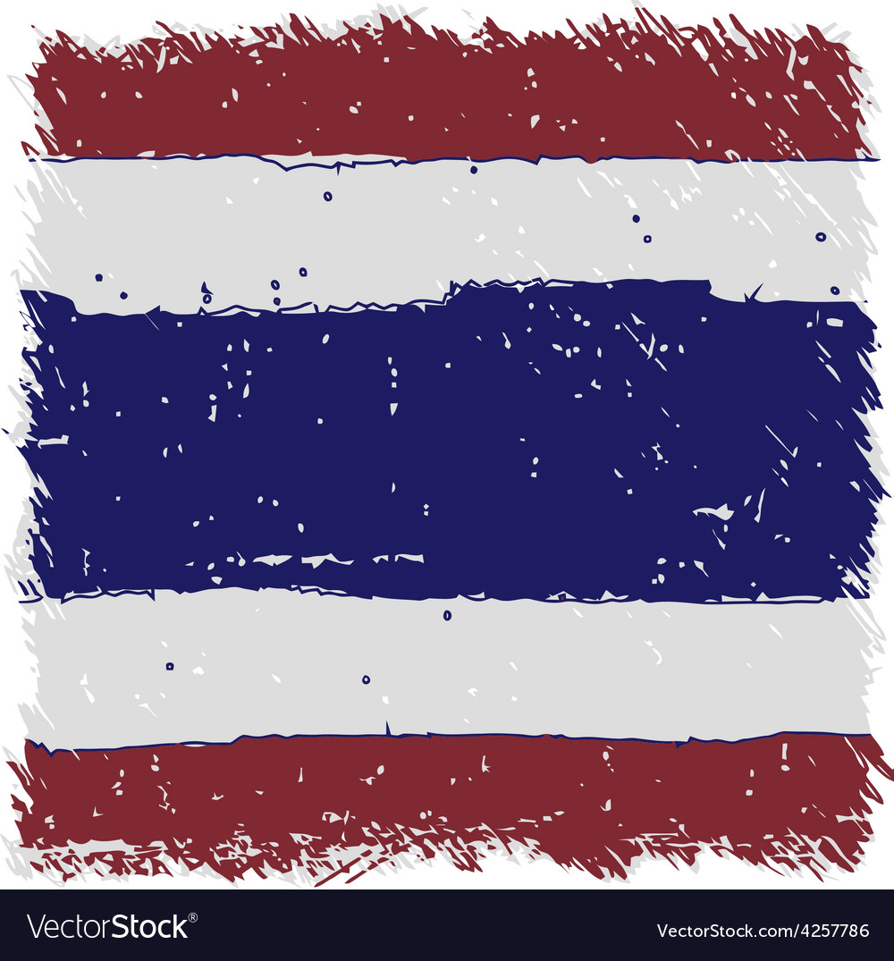 Flag of thailand handmade square shape vector | Price: 1 Credit (USD $1)