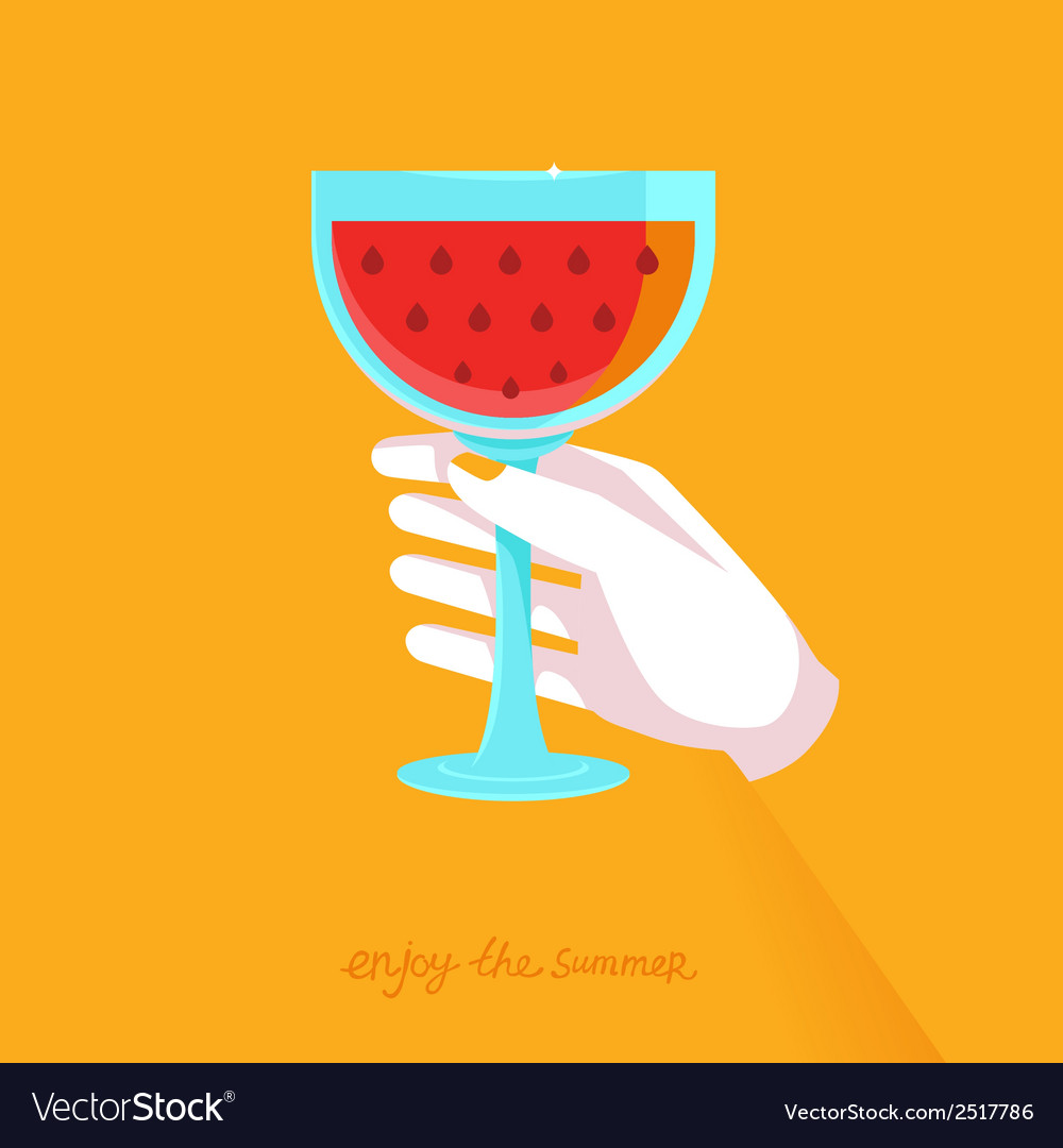 Flat poster - enjoy the summer vector | Price: 1 Credit (USD $1)