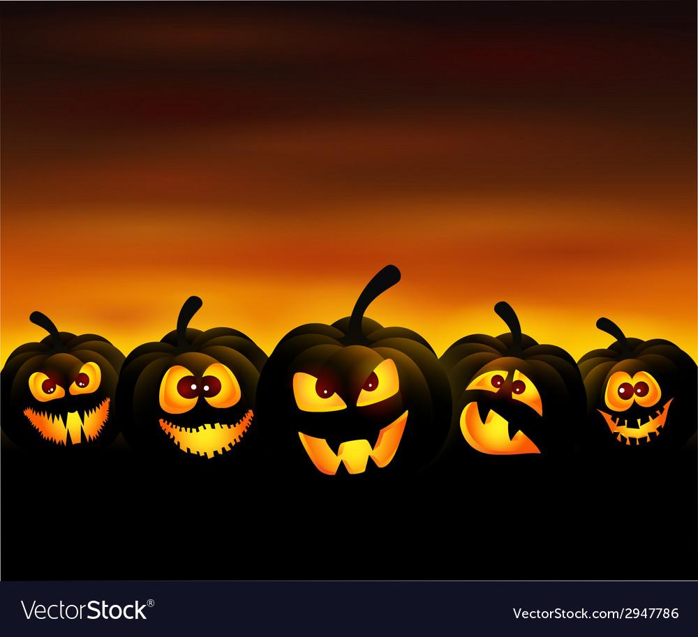 Funny pumpkins vector | Price: 3 Credit (USD $3)