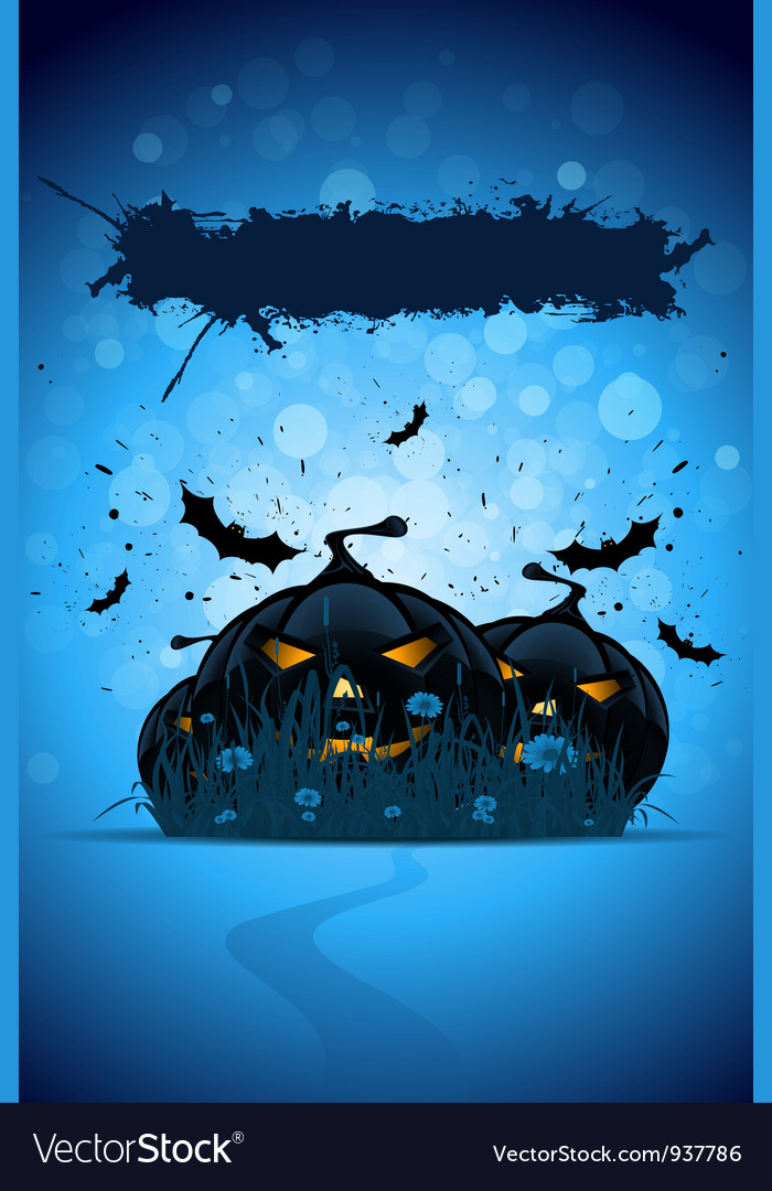 Grunge halloween party template vector | Price: 1 Credit (USD $1)