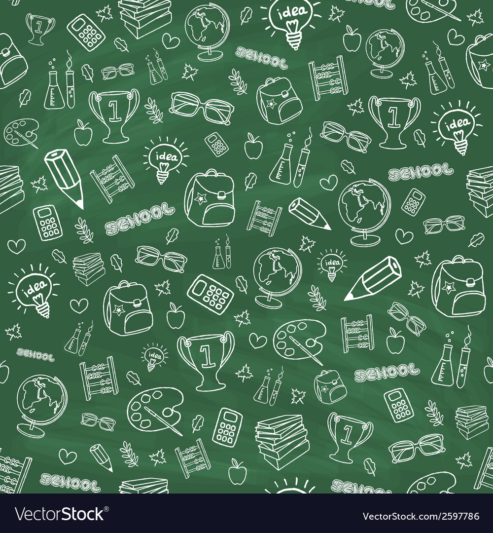 Hand drawn colorful school background vector | Price: 1 Credit (USD $1)
