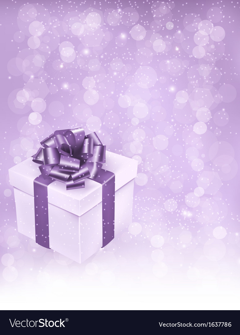 Holiday background with gift box with bow and vector | Price: 1 Credit (USD $1)