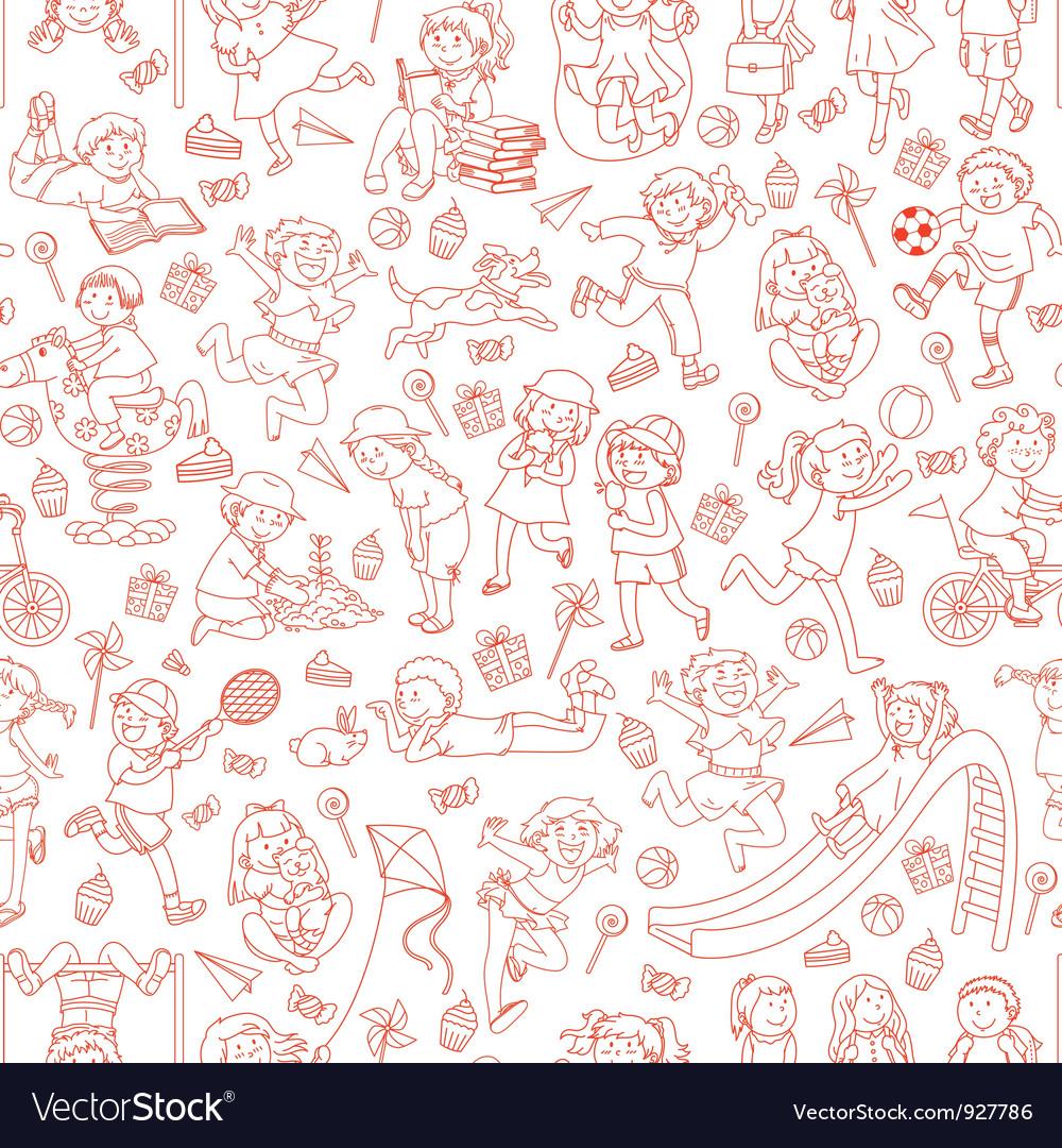 Kids pattern vector   Price: 1 Credit (USD $1)