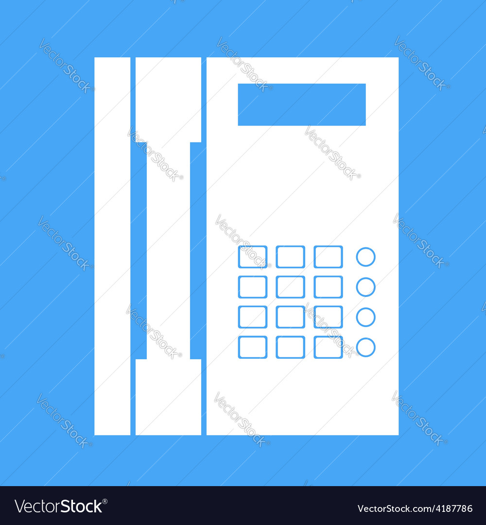 Landline phone on a white background vector | Price: 1 Credit (USD $1)