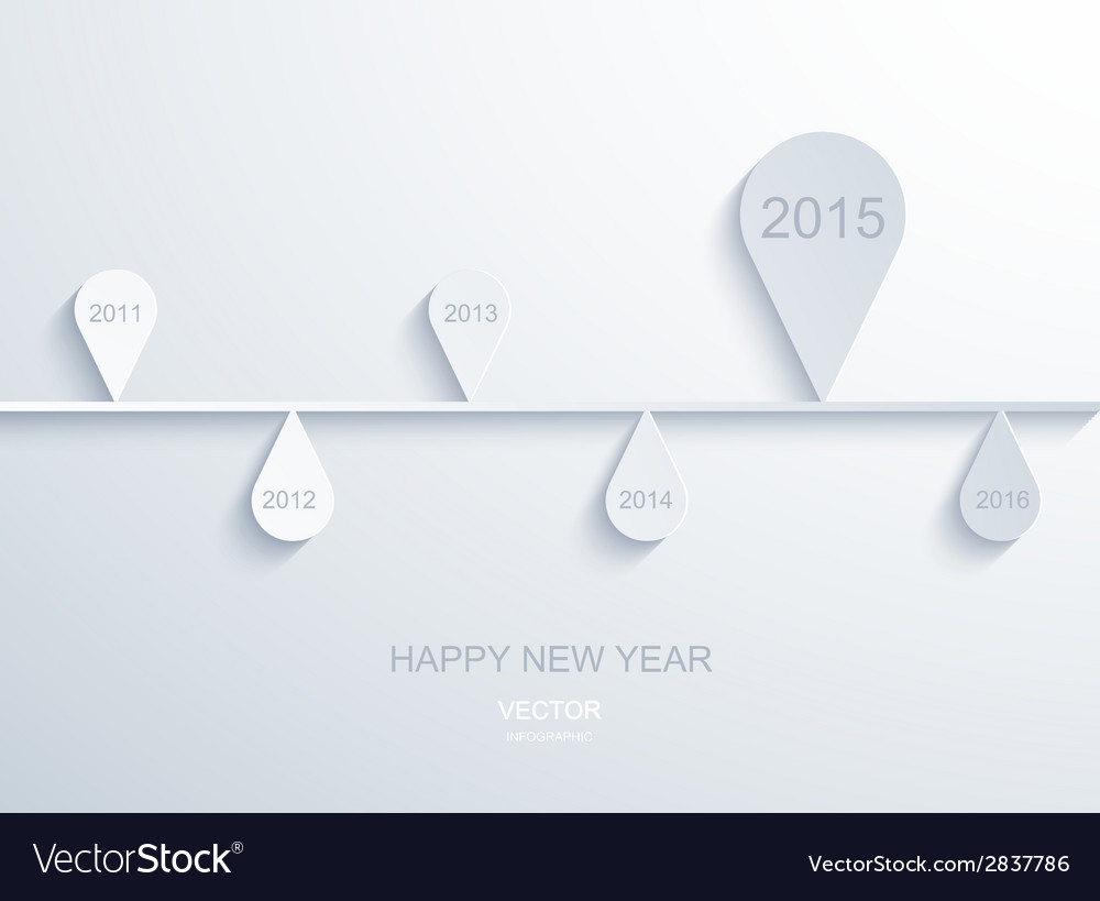 Modern 2015 new year infographic vector | Price: 1 Credit (USD $1)
