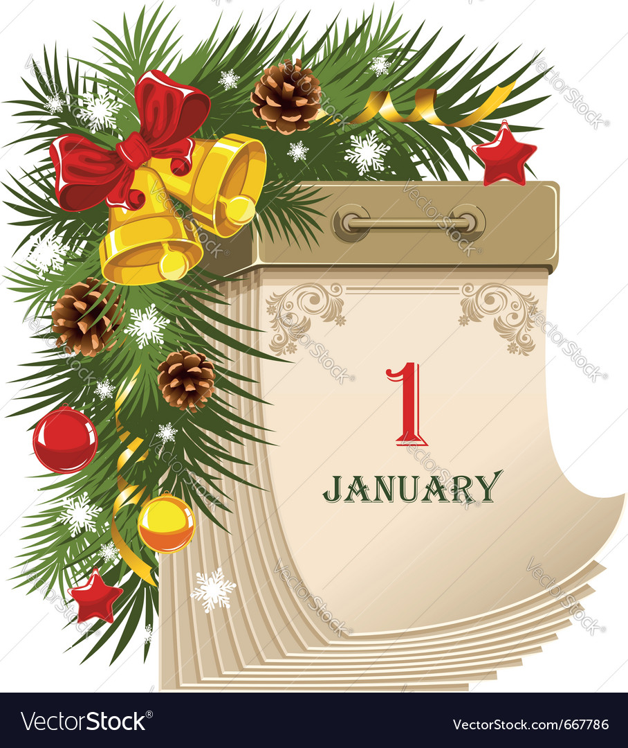 New year tear-off calendar vector | Price: 3 Credit (USD $3)