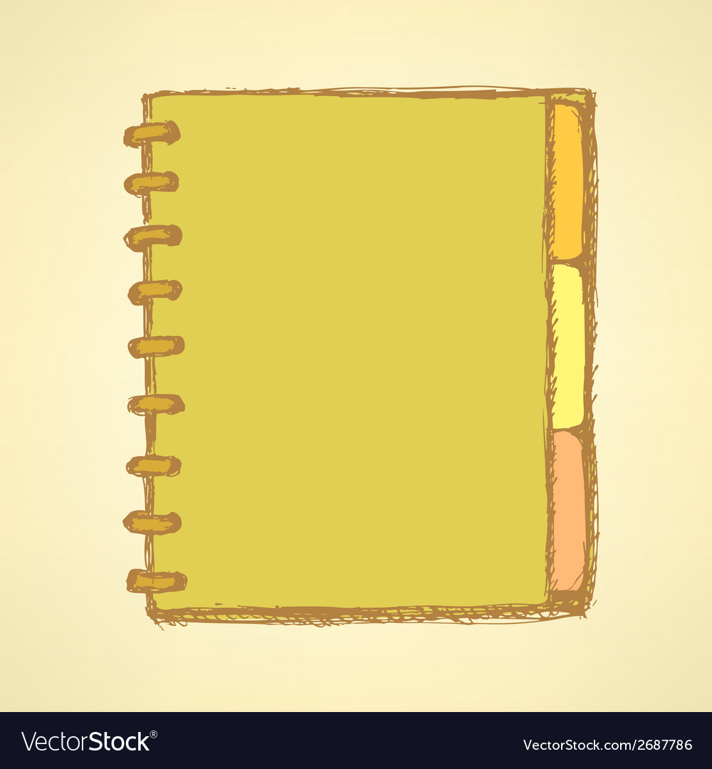 Note book vector | Price: 1 Credit (USD $1)