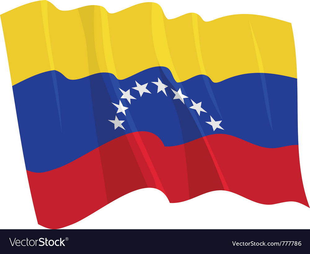 Political waving flag of venezuela vector | Price: 1 Credit (USD $1)