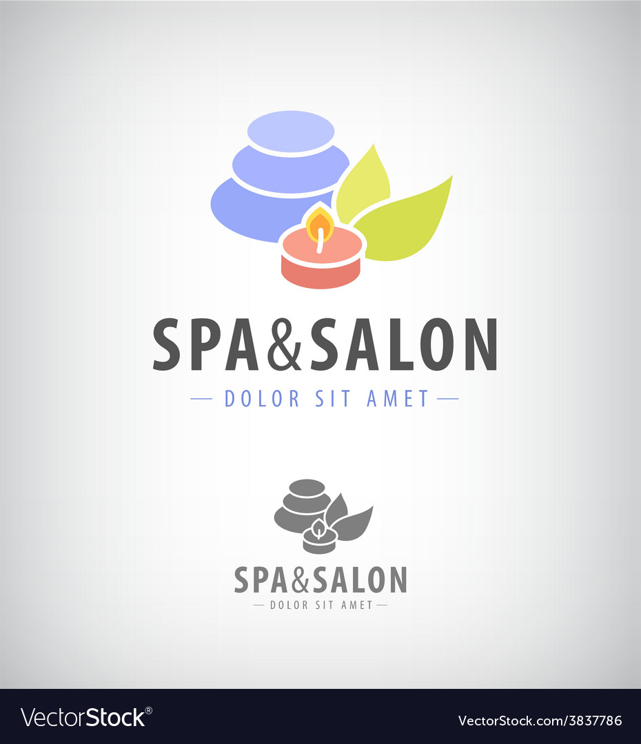 Spa salon relax icon isolated vector | Price: 1 Credit (USD $1)
