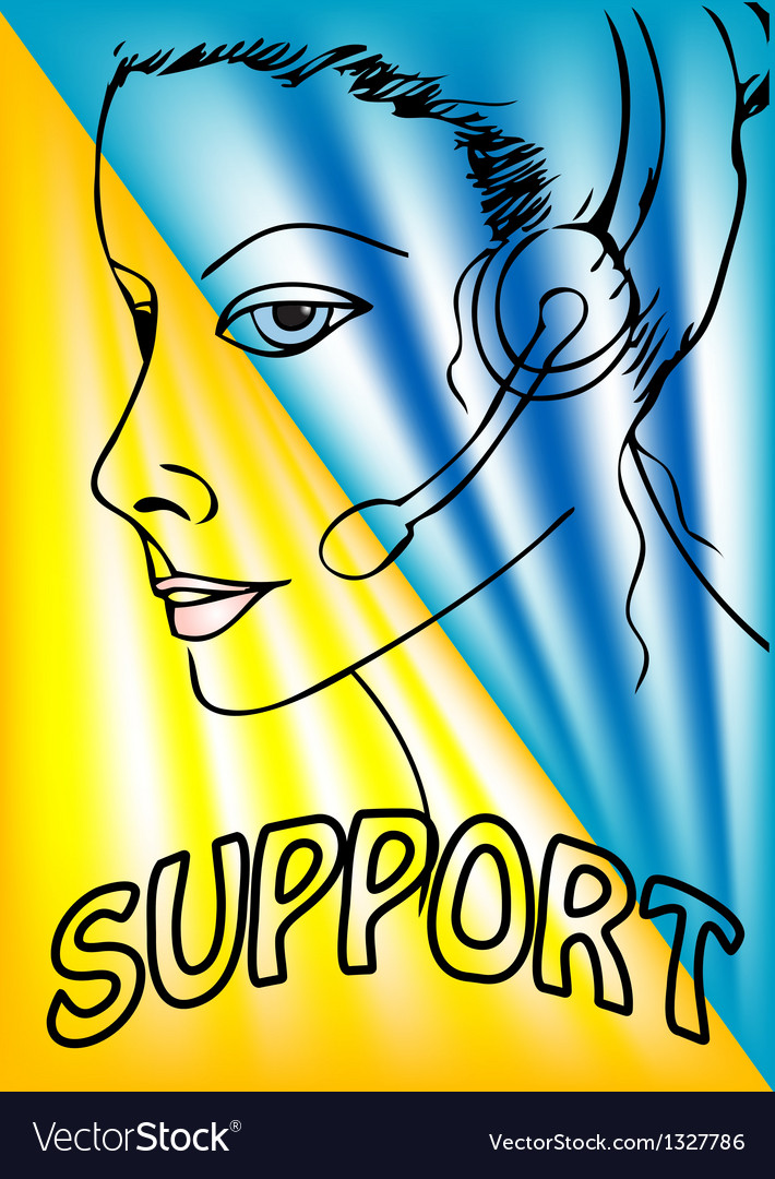 Support phone operator vector   Price: 1 Credit (USD $1)