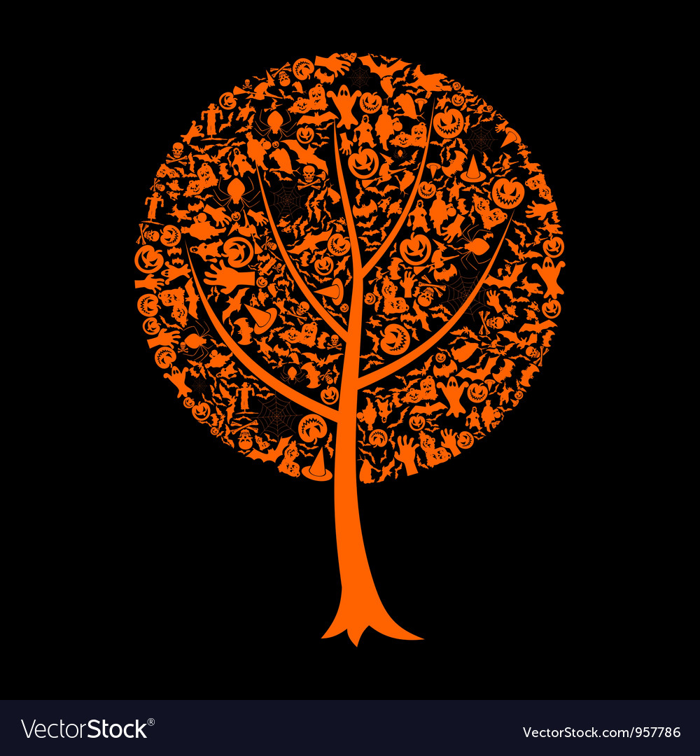 Tree halloween vector | Price: 1 Credit (USD $1)