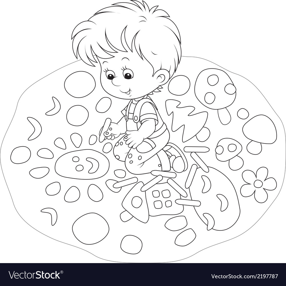 Child drawing vector | Price: 1 Credit (USD $1)