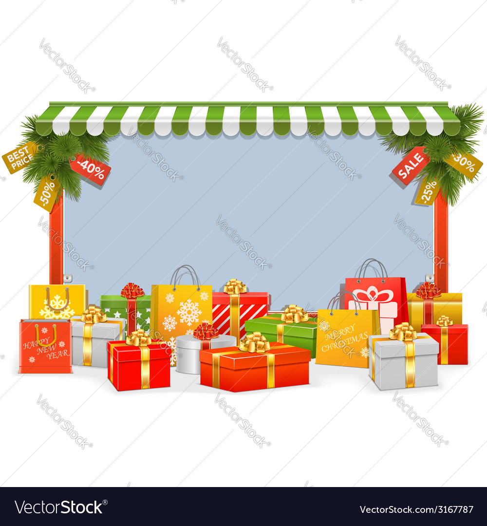 Christmas shopping board vector | Price: 1 Credit (USD $1)