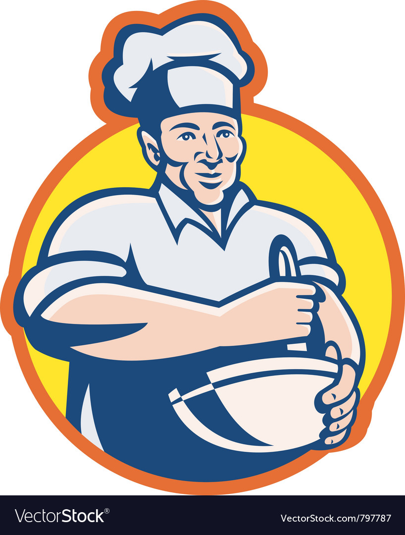 Cook chef baker vector | Price: 1 Credit (USD $1)