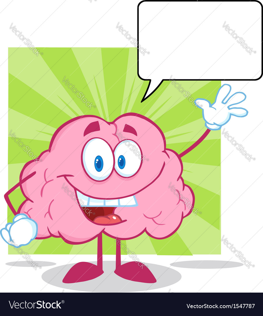 Healthy brain food cartoon vector | Price: 1 Credit (USD $1)