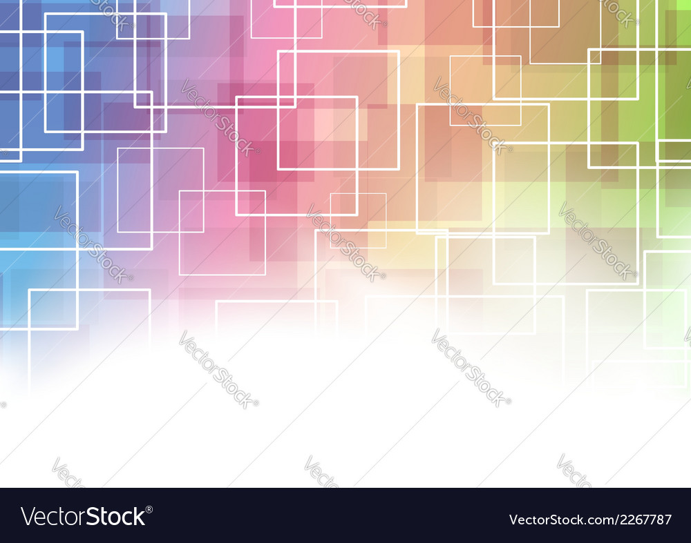 Modernistic square abstraction template vector | Price: 1 Credit (USD $1)