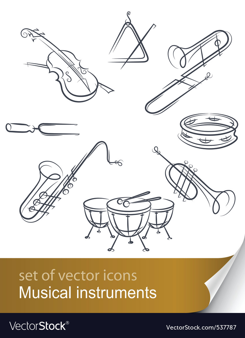 Musical instrument vector | Price: 3 Credit (USD $3)