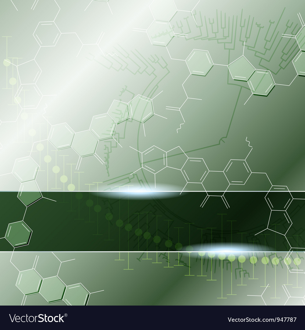 Science background with molecules vector | Price: 1 Credit (USD $1)
