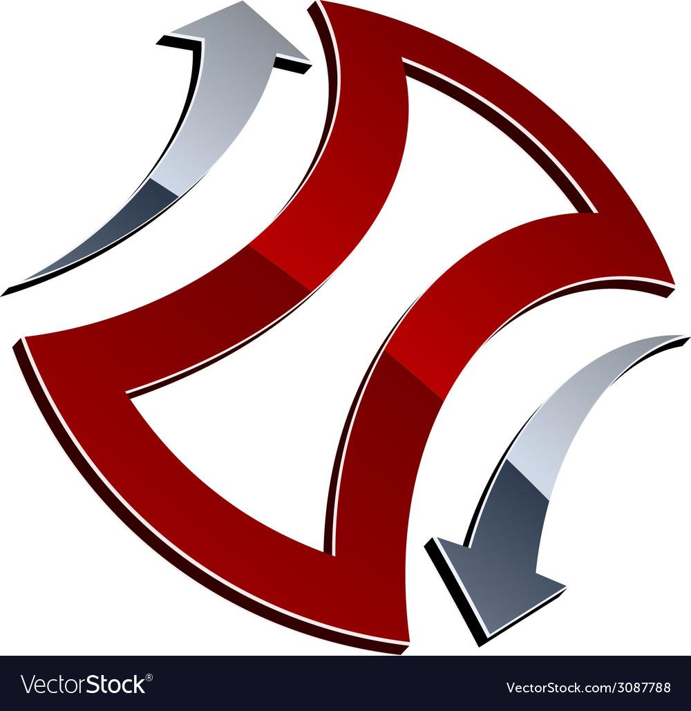 3d shiny arrows vector | Price: 1 Credit (USD $1)