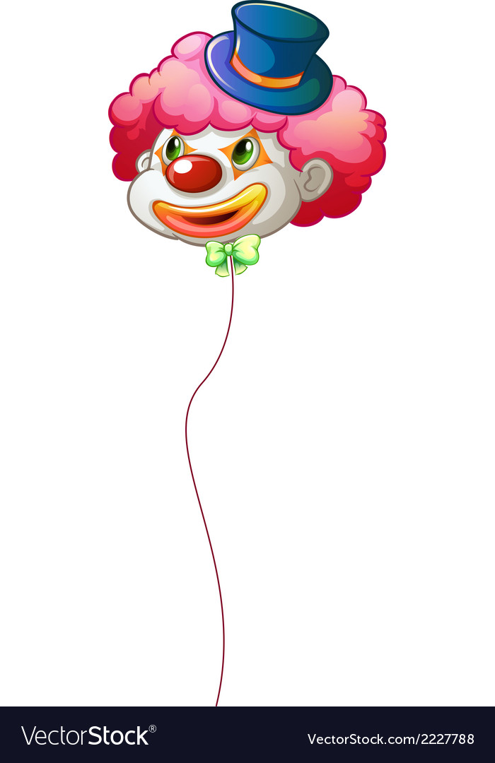 A colourful clown balloon vector | Price: 1 Credit (USD $1)