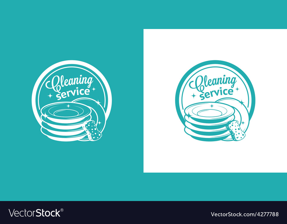 Cleaning service vintage logos vector | Price: 1 Credit (USD $1)