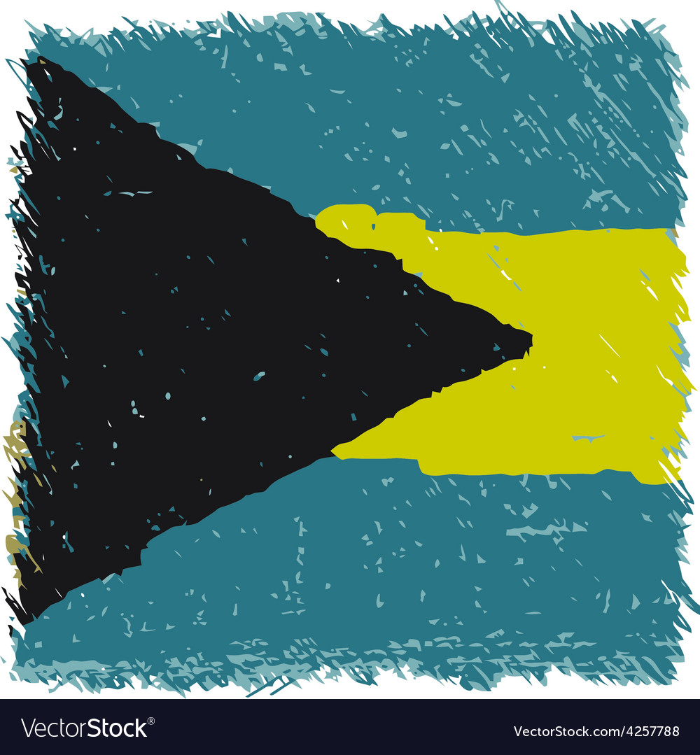 Flag of the bahamas handmade square shape vector   Price: 1 Credit (USD $1)