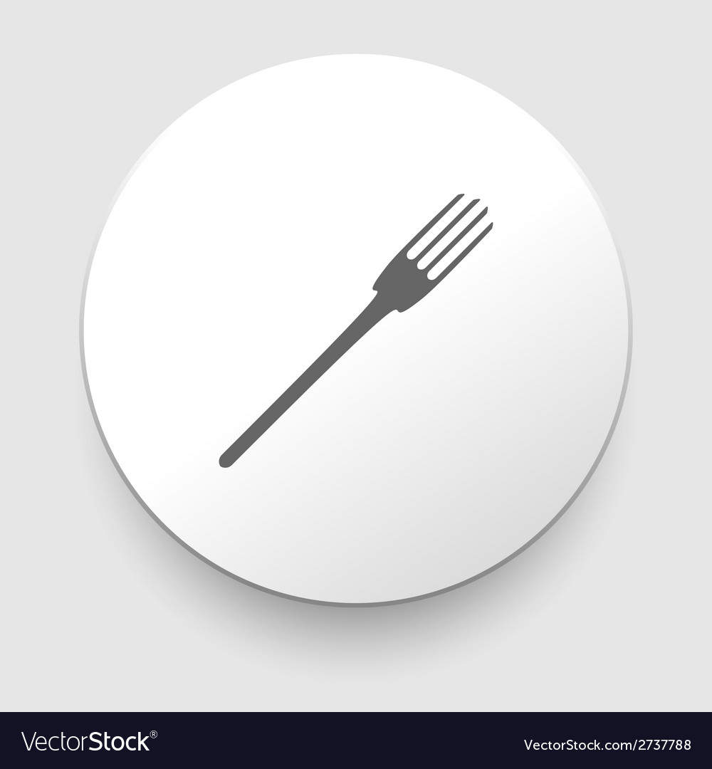 Fork icon on white background vector | Price: 1 Credit (USD $1)