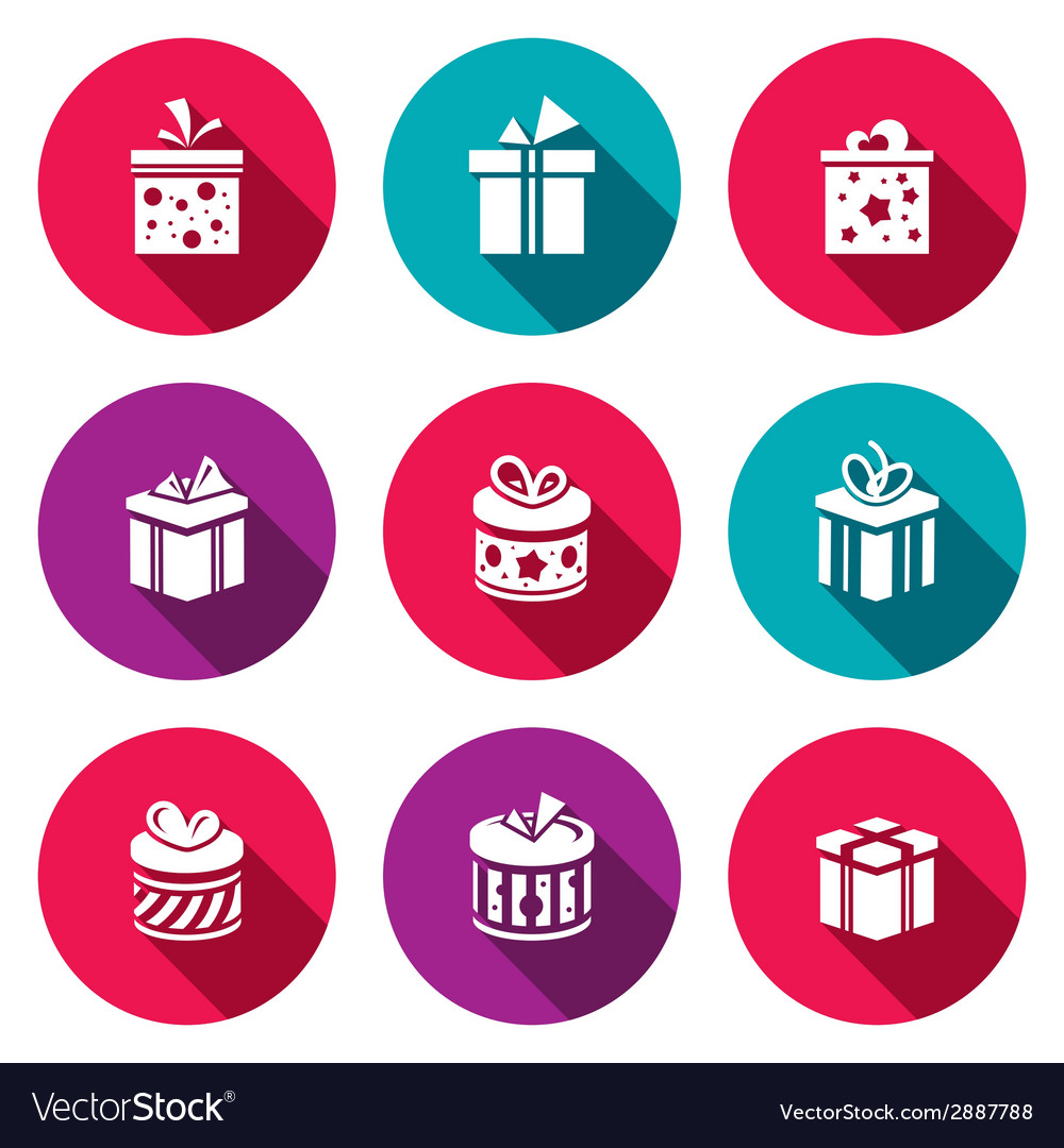 Gift icon set vector | Price: 1 Credit (USD $1)