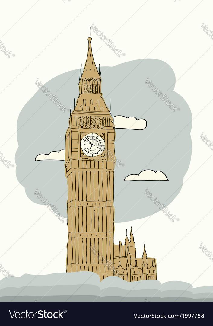 London big ben vector | Price: 1 Credit (USD $1)