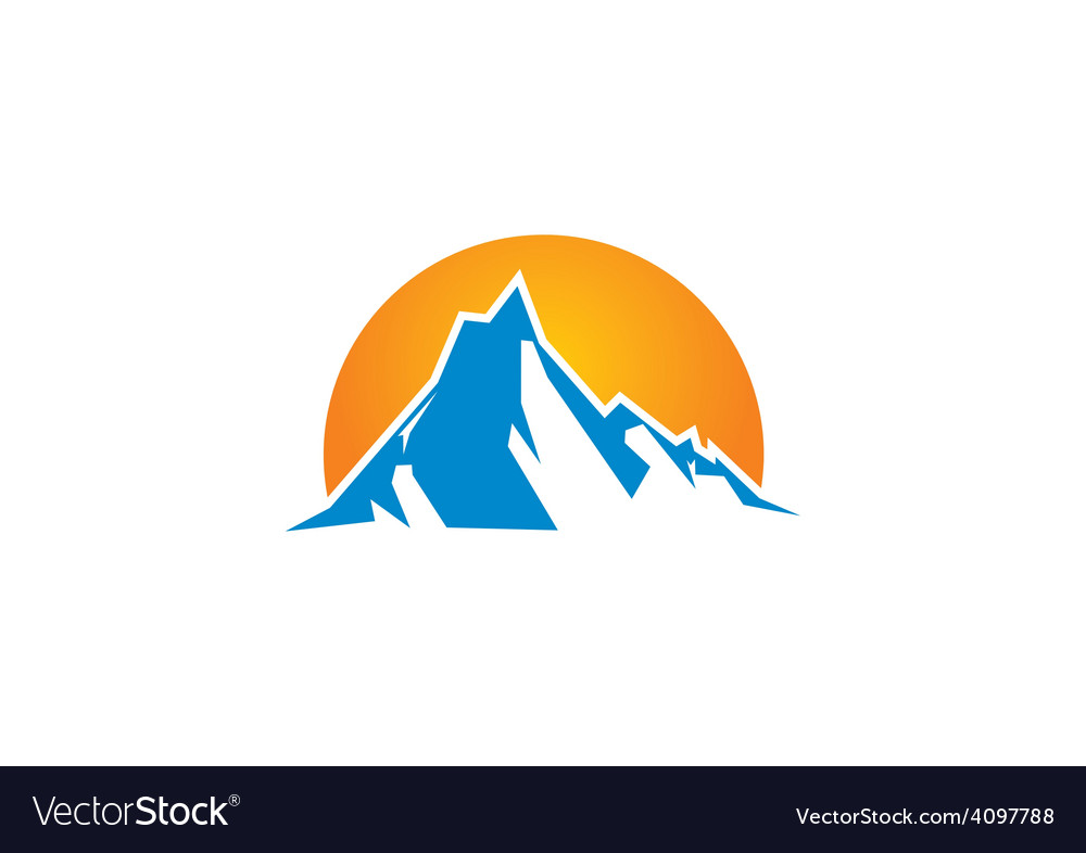 Mountain abstract horizon logo vector | Price: 1 Credit (USD $1)