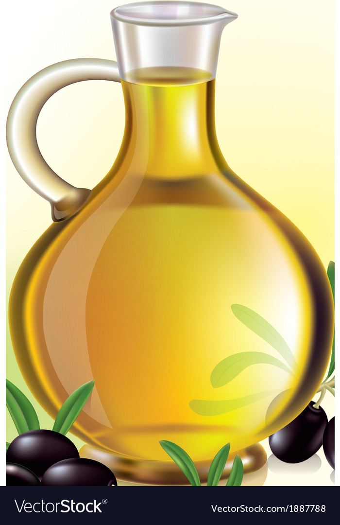 Olive oil and olives vector | Price: 1 Credit (USD $1)
