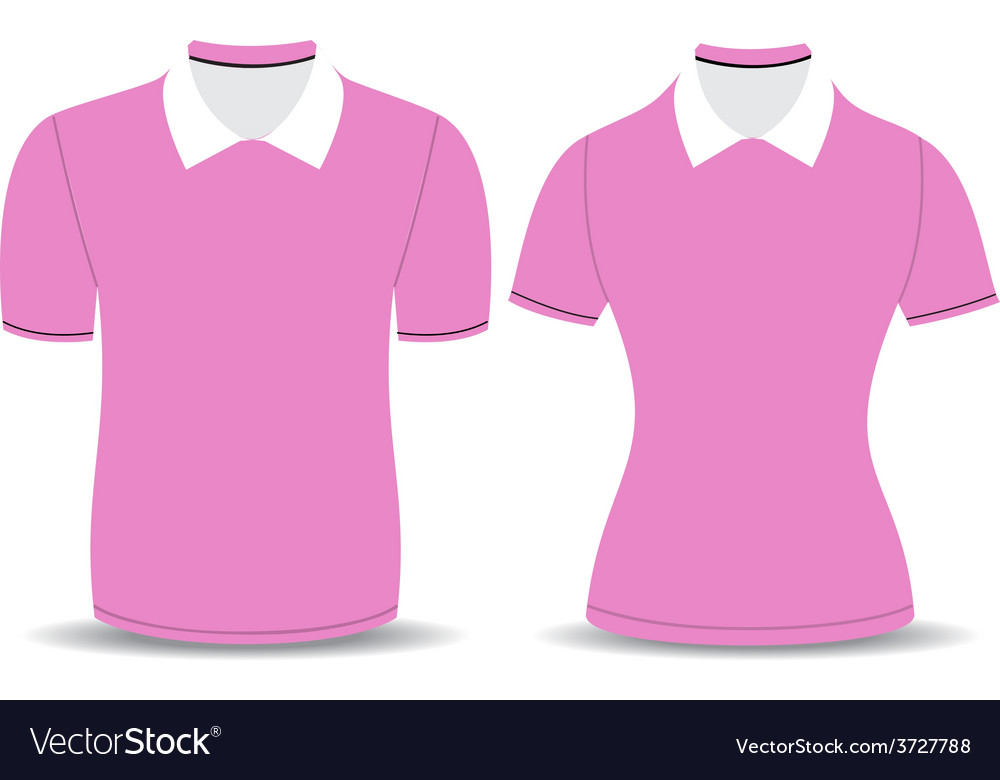 Pink polo shirt outline vector | Price: 1 Credit (USD $1)