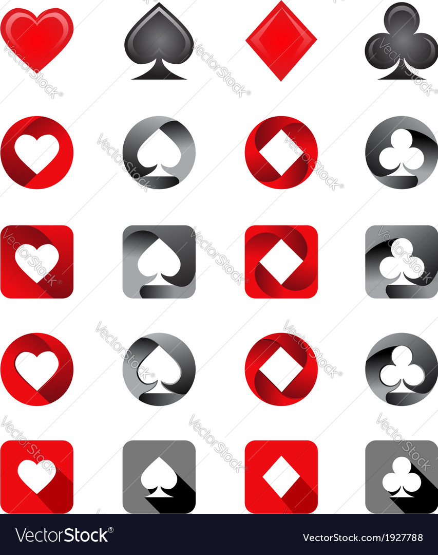 Playing card suits vector | Price: 1 Credit (USD $1)