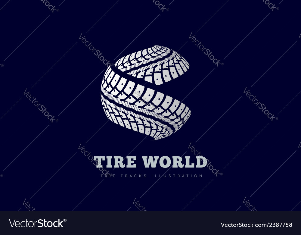 Tire track brand invert vector | Price: 1 Credit (USD $1)