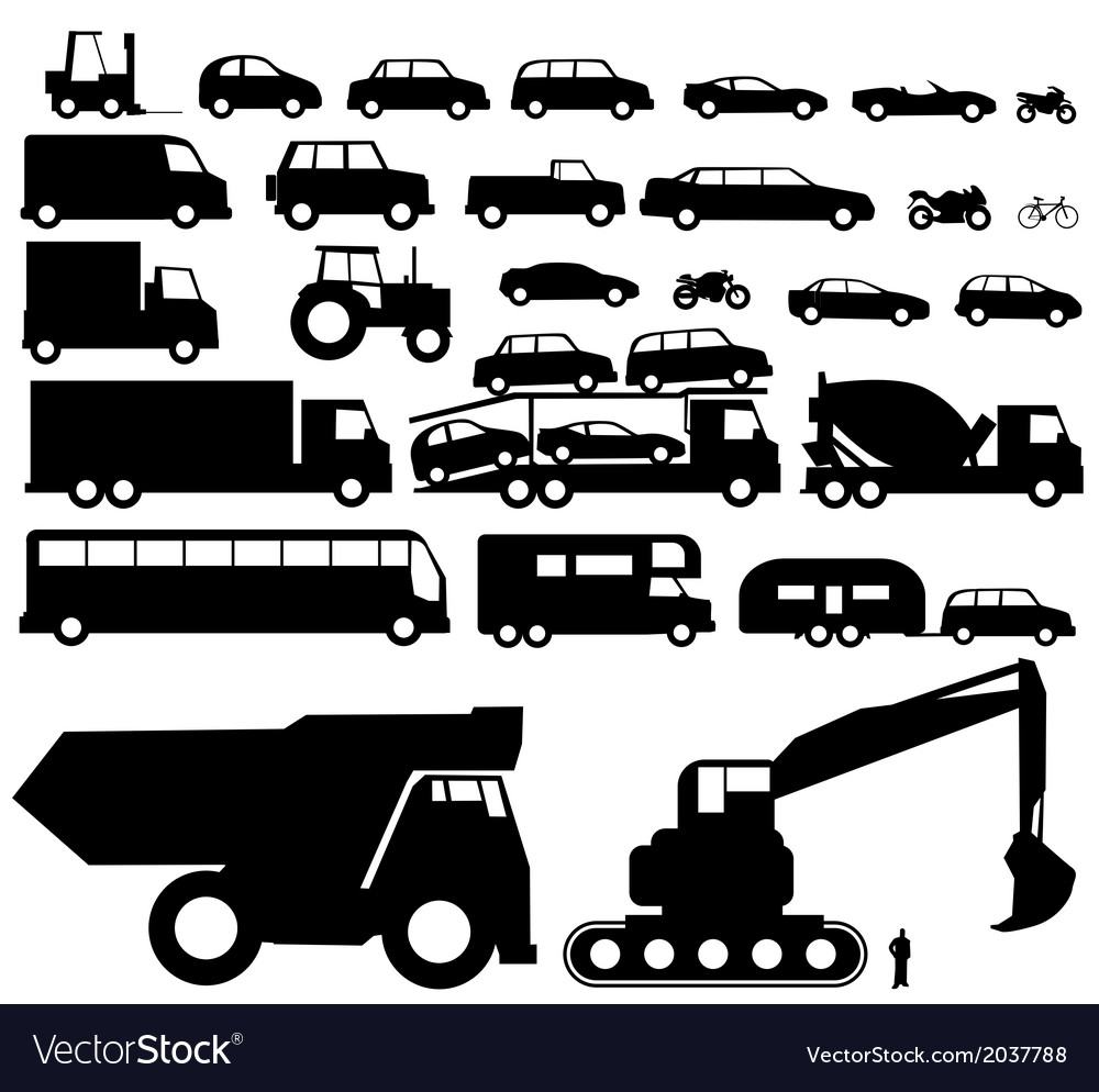 Vehicle silhouette vector | Price: 1 Credit (USD $1)