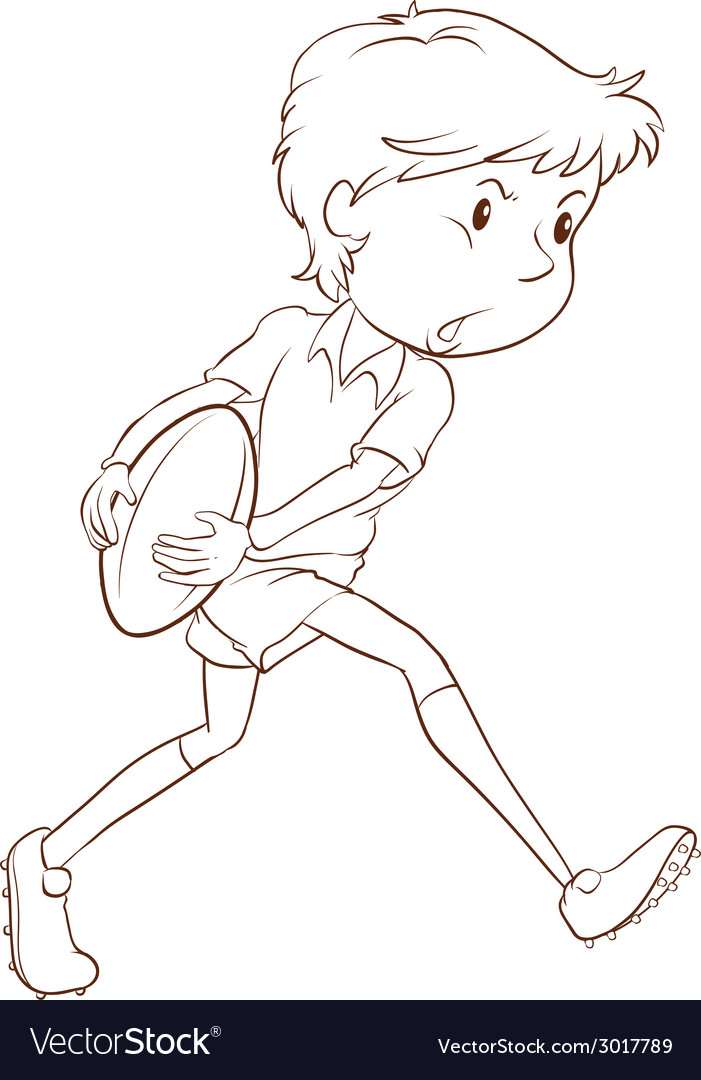 A simple sketch of a man playing rugby vector   Price: 1 Credit (USD $1)