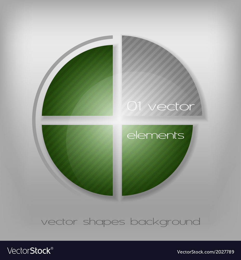 Business circle green gray vector | Price: 1 Credit (USD $1)