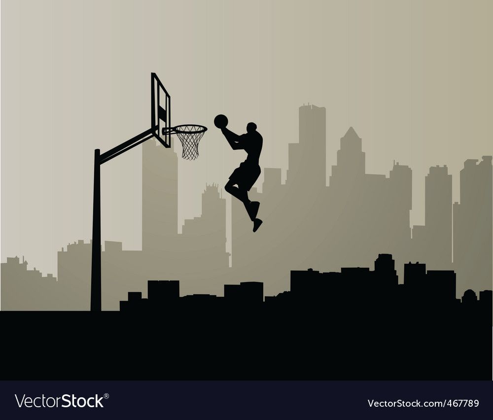 Cityscape slam dunk vector | Price: 1 Credit (USD $1)