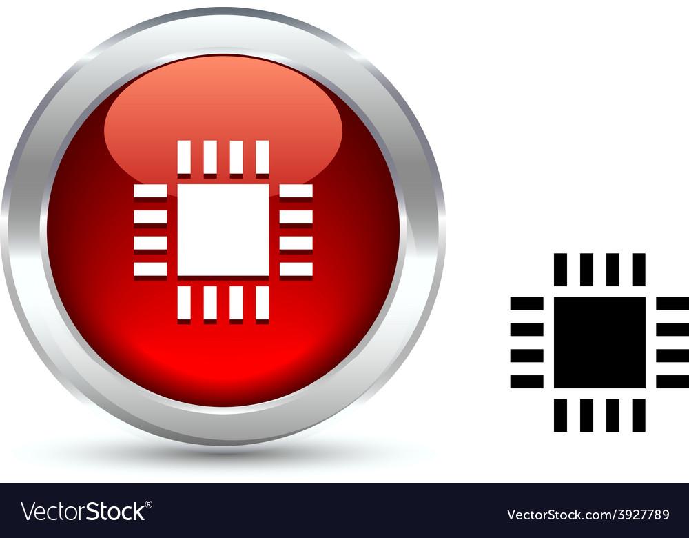 Cpu button vector | Price: 1 Credit (USD $1)