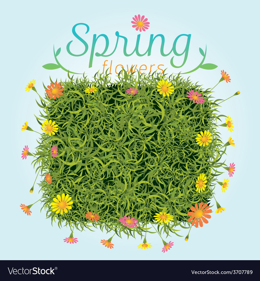 Flowers spring season background vector | Price: 1 Credit (USD $1)