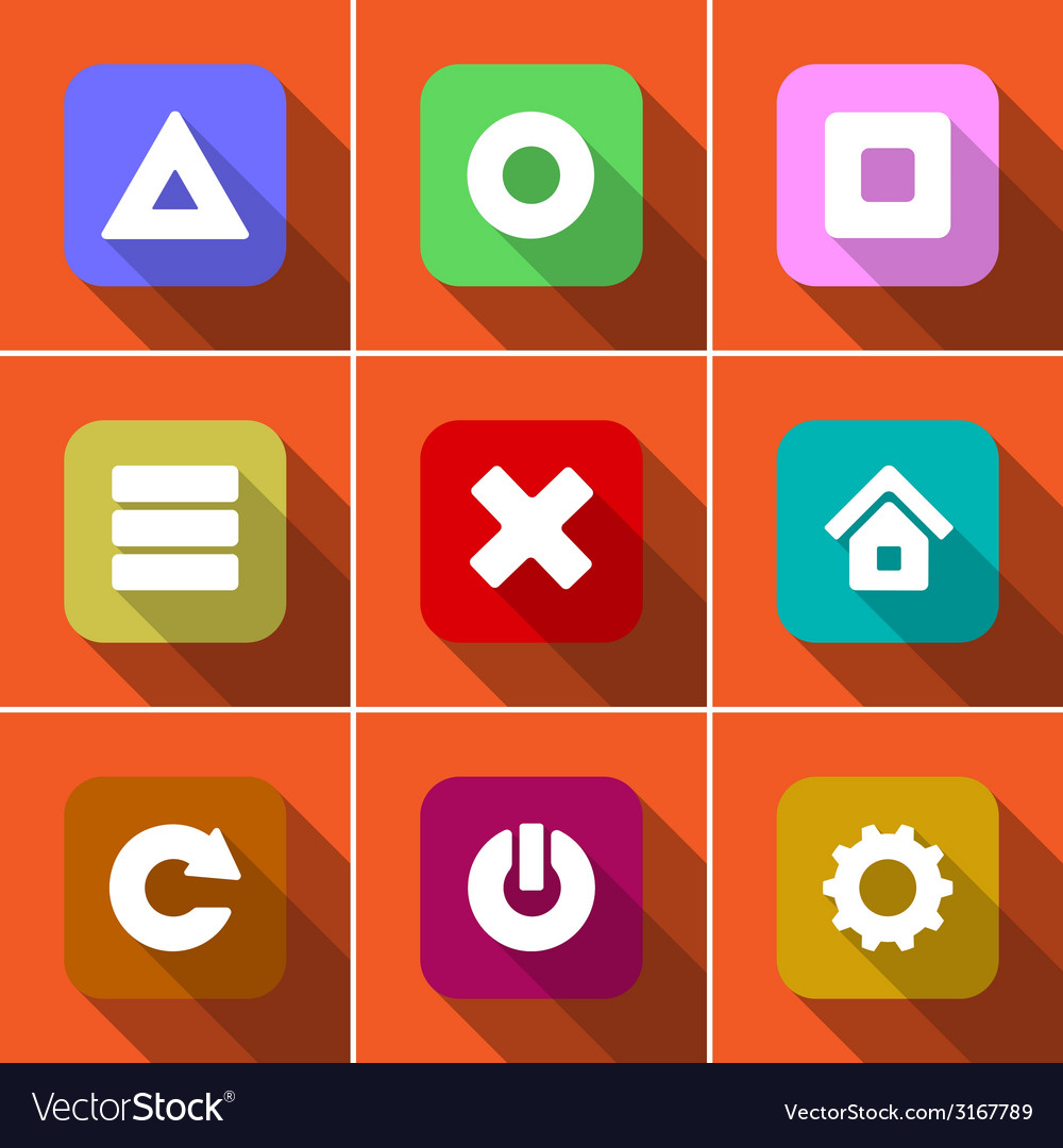 Icon set in flat design vector | Price: 1 Credit (USD $1)